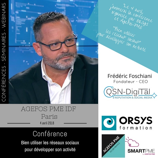 Annonce Conference FFoschiani_ Orsys-AgefosPME-4 avril 2018