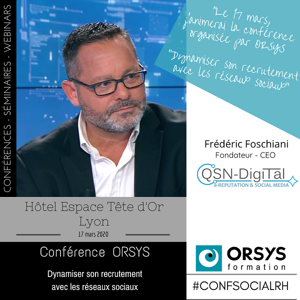 Conference - Lyon- Frederic Foschiani - CEO de QSN-DigiTal